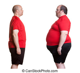 Weight Loss Success - Before and after pictures of man with...