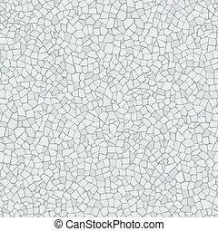 Trencadis white pattern - Broken tiles trencadis white...