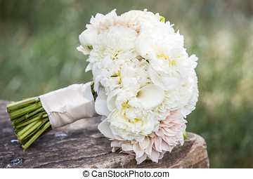 Wedding Bouquet - Wedding bouquet on a brides wedding day