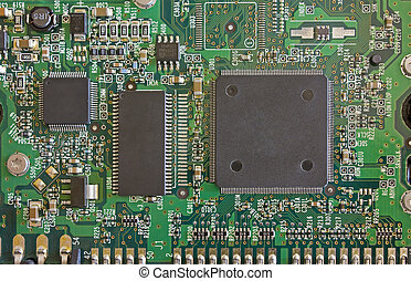 Computer Circuit Board taken from a hard disk.