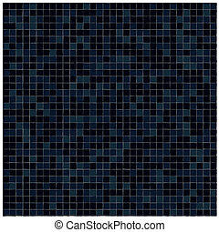 Black tiles wall covering