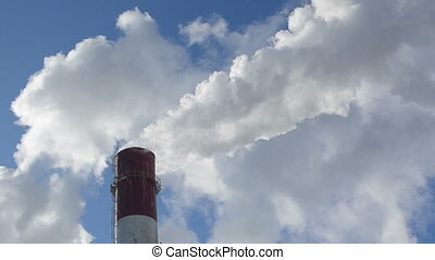 chimney fume industrial