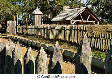 Fort King George Historic Site - Replica fort, buildings,...