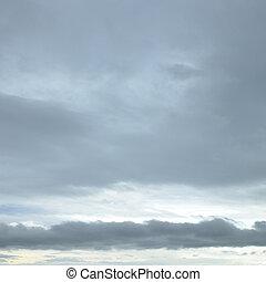 Dark grey sky