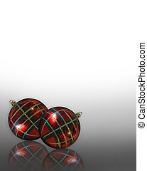 Christmas Ornaments Plaid corner