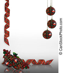 Christmas Ornaments Border - Image and illustration...