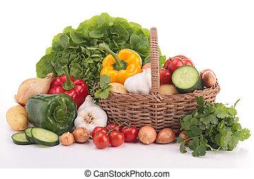 heap of fresh raw vegetables