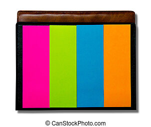 Colorful of postit isolated on white background