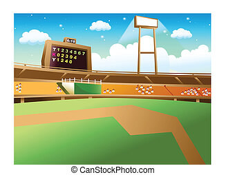 Baseball Stadium - This illustration is a common natural...