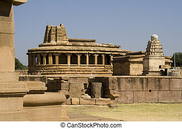 Durga Temple at Aihole - Semi-circular back portion and...