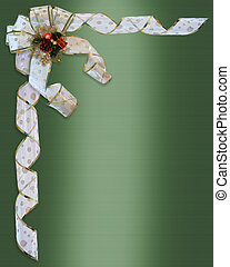 Christmas Border Bow and ribbons