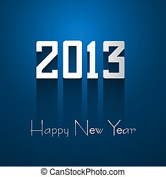 new year 2013 shiny blue colorful background illustrations