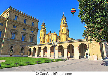 The Residenz and Odeonsplatz in Munich - The scenery at the...