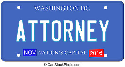 Washington DC Attorney - An imitation Washington DC license...