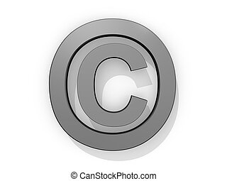 Copyright Logo on a white background.