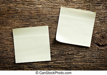 notepaper on wooden background