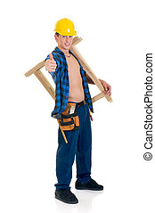 Construction worker - Young handsome male construction...