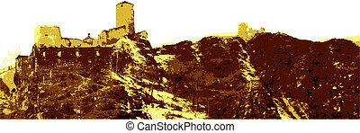 Romantic castle Gold