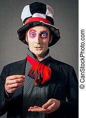 Crazy Hatter - Young man in the image of the Crazy Hatter...