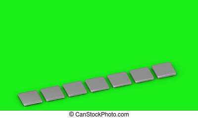 Business growth graph of silver bars on a green background