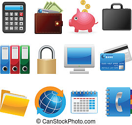 Business and Finance Icons - Set of business and finance...