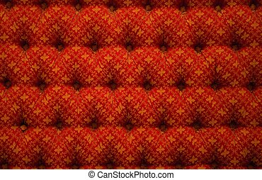 Close-up view of red luxury upholstery
