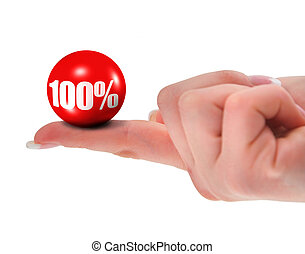 100% on finger