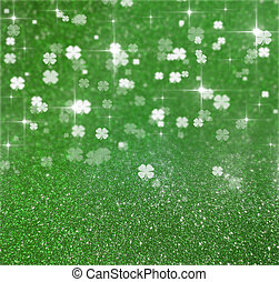 St Patricks Day Glitter Clover - Elegant and shiny St...