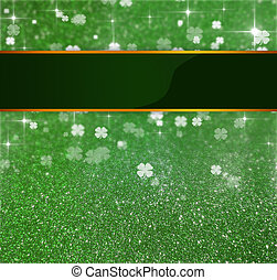 St Patricks Day Glitter Clover - Elegant and luxurious St...