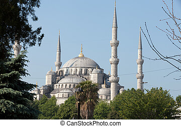 Istanbul - The Sultan Ahmed Mosque Mosque, popularly known as the Blue Mosque