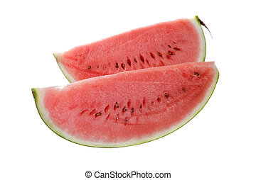 water melon slice, isolated on white background