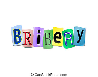 Bribery concept. - Illustration depicting cutout printed...
