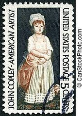 USA - CIRCA 1965: A stamp printed in USA shows Elizabeth...