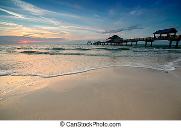 Sunset on Clearwater Beach - Sunset near Pier 60 on a...