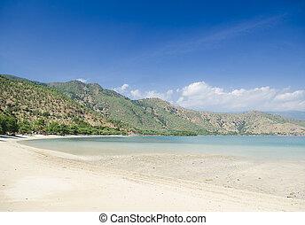 areia branca beach near dili east timor - areia branca...