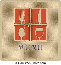 Press print of menu cover