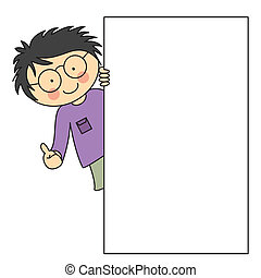 child with a framework. space for text or photo