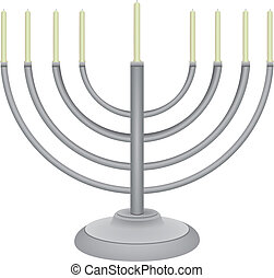 minor with nine candles - The symbol of the Jewish religion...