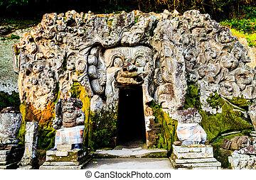 goa gajah temple in bali, indonesia