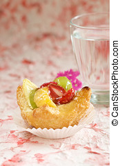 Fruitcake - Delicious small fruit cake filled with fresh...