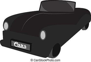 Retro car. Vintage