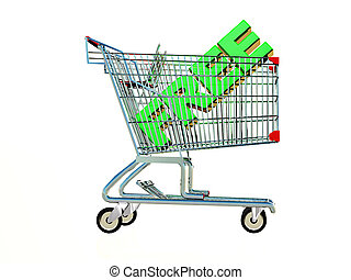 free - the word free in a shopping cart