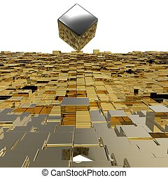 3D cubes background