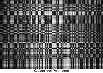Abstract Kaleidoscope Mosaic Black and White Background