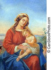 bendito, Virgen, maría, bebé, Jesús