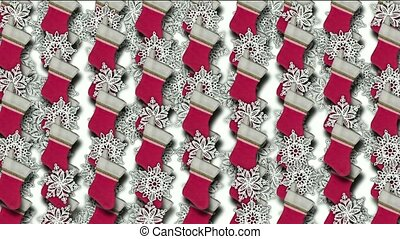 chrismas socks & rotate snowflake