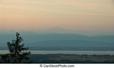 Mont Blanc b - views of Mont Blanc and Lake Geneva