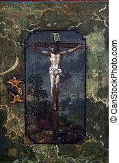 Jesus crucified on the cross