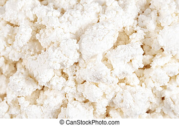 Fresh cottage cheese (curd) heap, isolated on white...