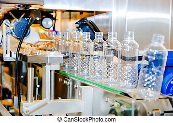 Bottling water on the plant